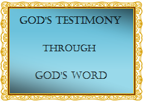 God's Testimony Frame Shade